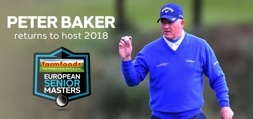 Peter Baker returns as Farmfoods European Senior Masters host